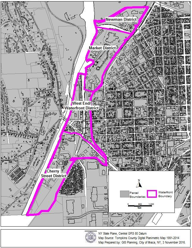 Waterfront Boundary Map