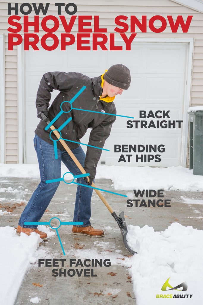 How to shovel snow properly