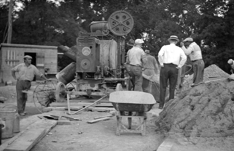1935 construction at wtp