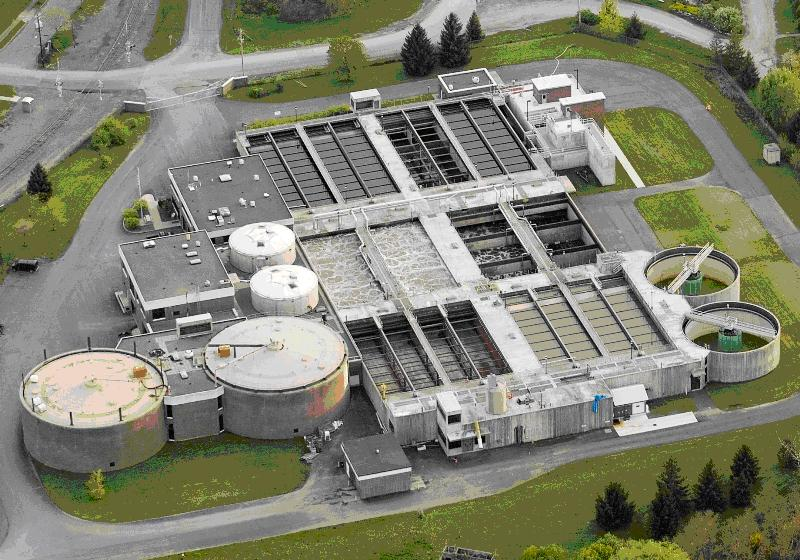 Ithaca Area Wastewater Treatment Facility Arial Photo